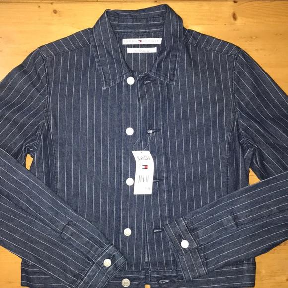 Tommy Hilfiger Jackets & Blazers - Tommy Hilfiger denim pinstripe jacket SP NWT